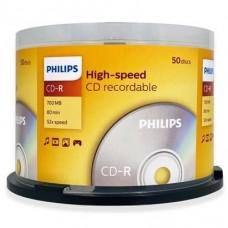 PHILIPS IPT CD-R 700MB 80MIN CR7D5SB50 CAKE 50 UNID