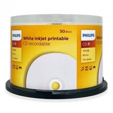 PHILIPS IPT CD-R 700MB CR7D5JB50 CAKE 50UN PRINTABLE