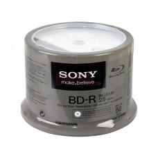 SONY IMP DISCO BD-R BLU RAY 25GB 6X TORRE 50UNID 50BNR25AP6