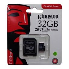 KINGSTON MEMORIA MICRO SDHC 32GB 80MBS C10 C/ADAPT SD SDC10/32GB ECOFFICE