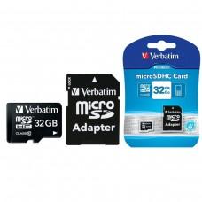 Verbatim Memoria Micro SDHC 32GB CLASS 10 C/Adaptador SD 44083